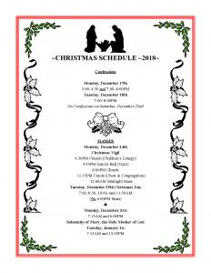 christmas-schedule-2018
