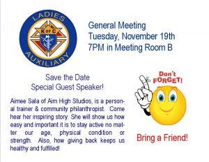 Meeting Reminder - Nov