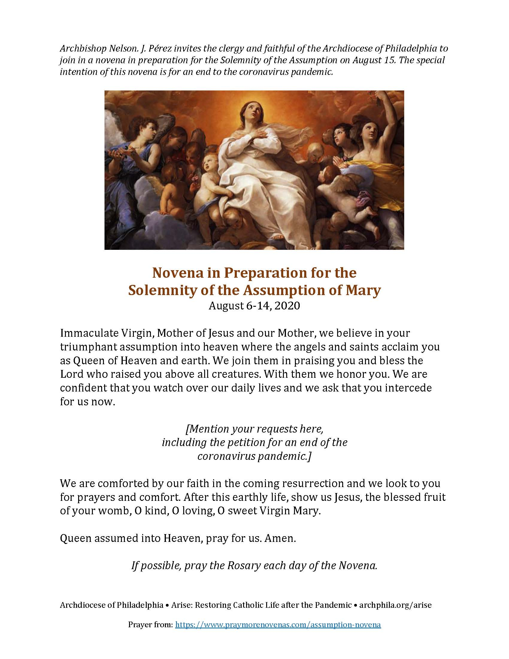 Assumption-Novena-English